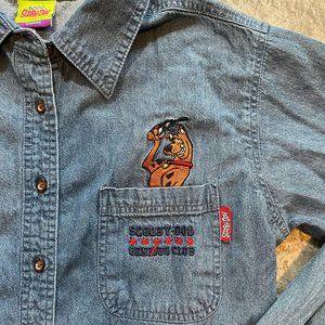 Vintage Scooby Doo Genius Club Denim Shirt